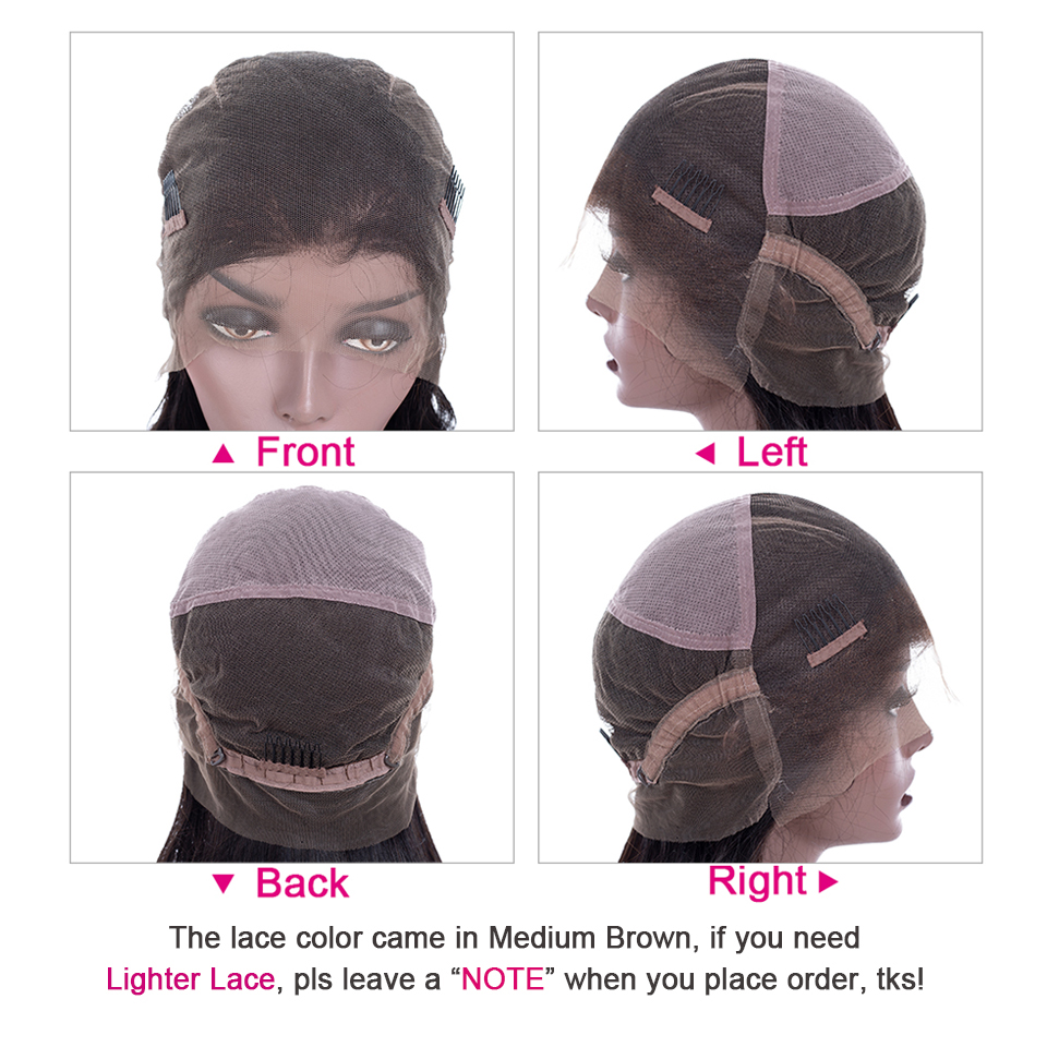 Yyong Hair Glueless Full Lace  Wigs With Baby Hair  Straight  Full Lace Wigs Low Ratio 5