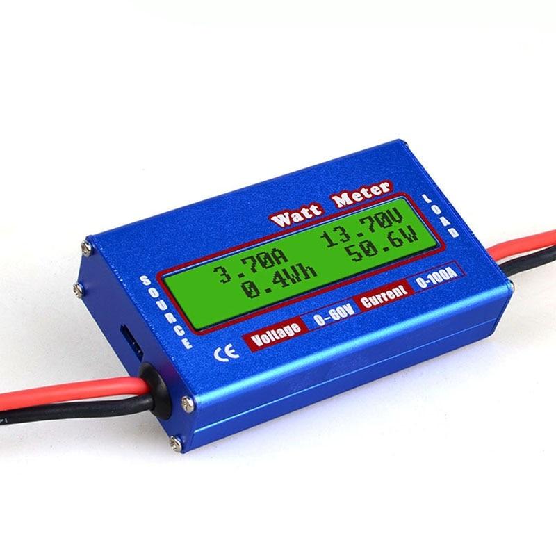 Ватт-вольт, усилитель-измеритель, анализатор напряжения батареи, RC ватт-метр, проверка, Профессиональный Постоянный ток, 60 в, 100 А, ватт-измер...