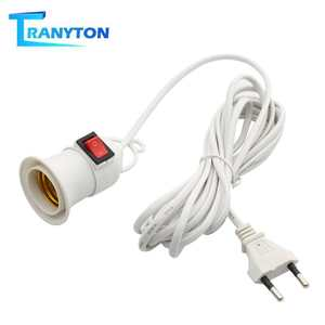 Bases Bulb-Lamp Eu-Plug-Holder-Adapter Power-Cord with 4M 8M To Converter-On/Off