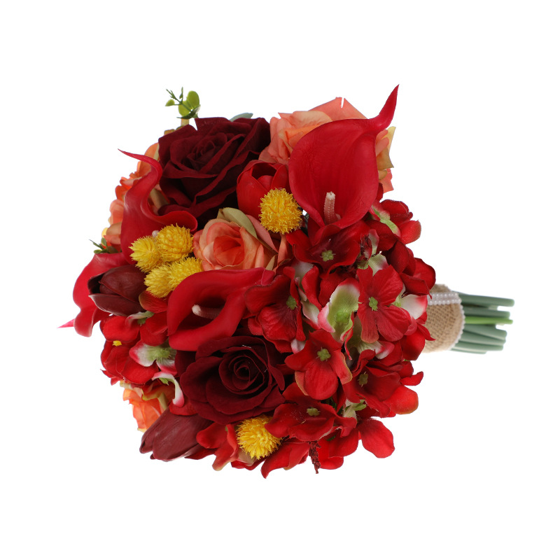 Stunning Red Bridal Bouquets New Arrival 2020 Bouquets 23*32cm Wedding Accessories