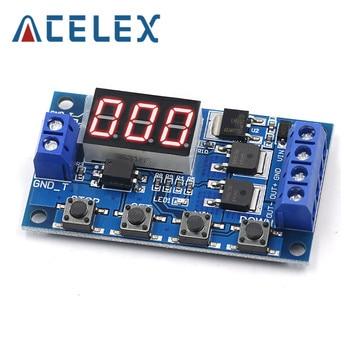 24V DC 12V Dual MOS LED relé de retardo de tiempo Digital Trigger ciclo interruptor de retardo del temporizador placa de circuito Módulo de Control de sincronización DIY