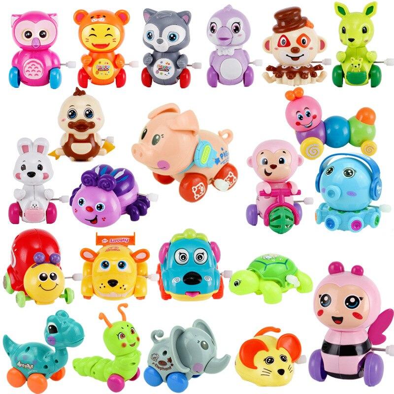 Monkey Bike Wind Up Toys For Children Boys Baby Funny Kids Toys Spring Clockwork Toy Mini Pull Back Jumping Cat/Dog/Lion