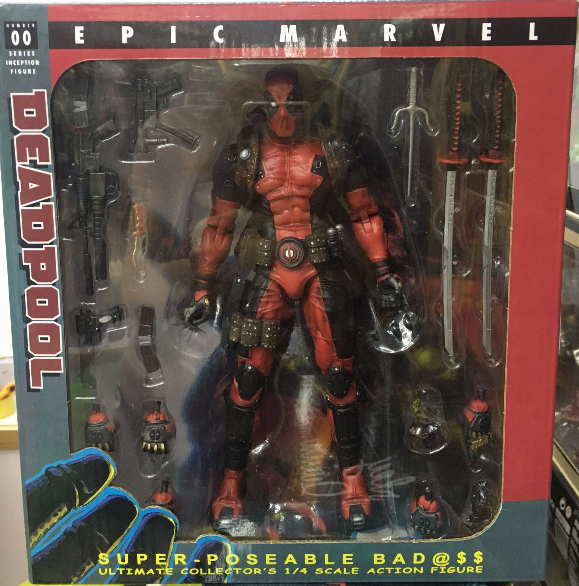 NECA Deadpool Diffuse Excellent Deadpool Small Base Deadpool 8-Inch Movable Joint Garage Kit Model