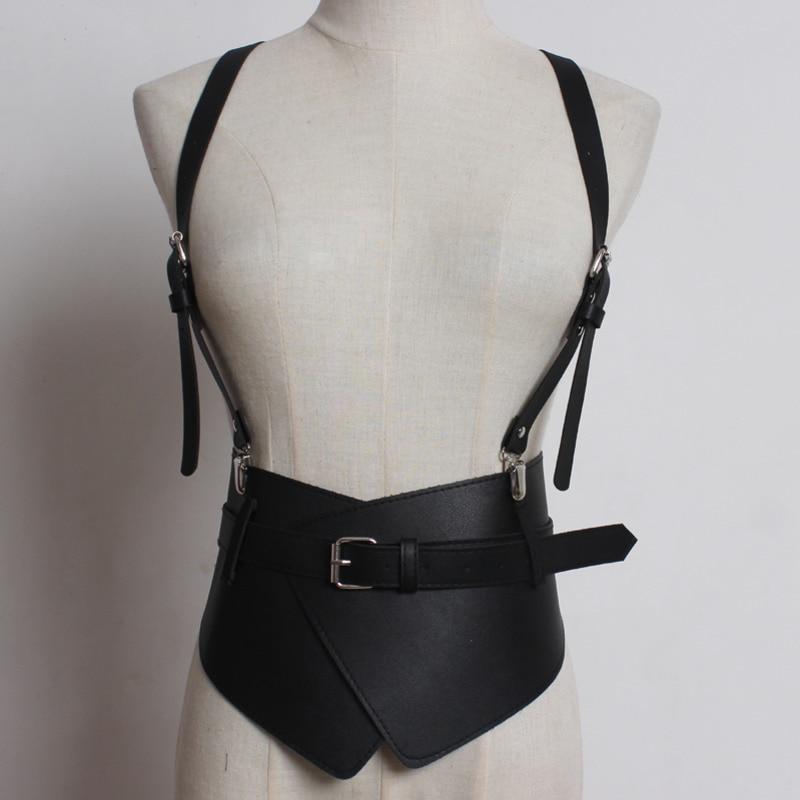 2020 New Design Tide Belts For Women Stylish Leather Wide Belt Punk Style Strap Belt Fashion Corset Belt Female Waistband ZK585