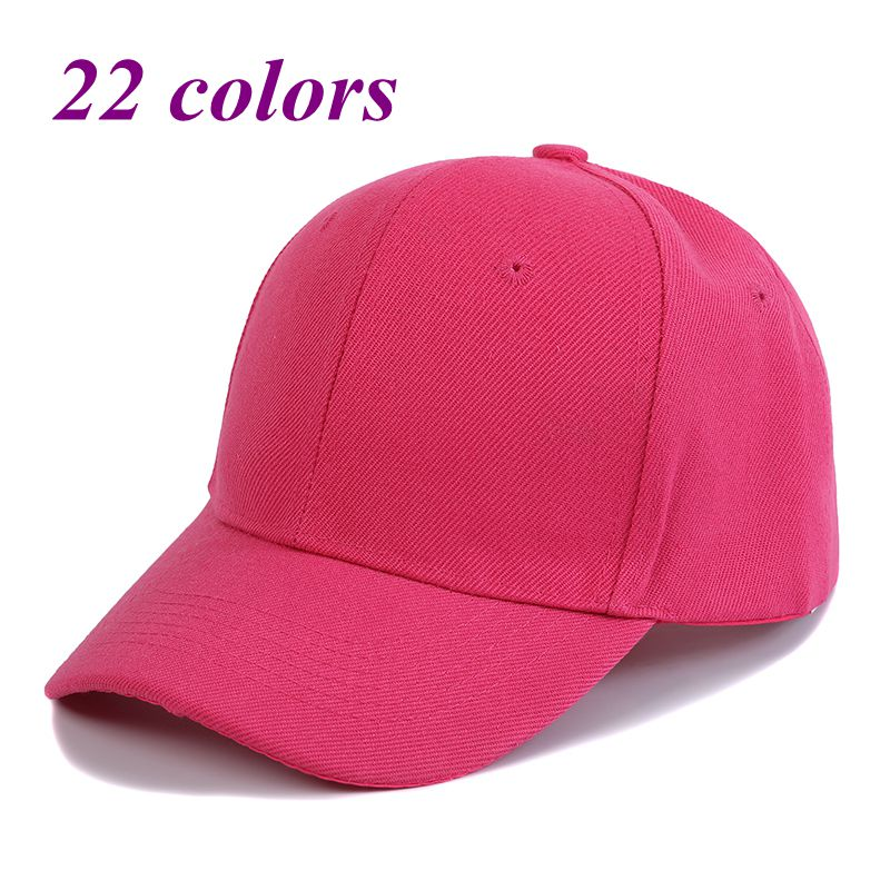23 Colors Solid Color Baseball Hat Men Women Snapback Hat Candy Color Outdoor Sports Hat