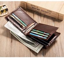 Portfel męski portfel ze skóry krótki portfel ze skóry wołowej tanie tanio LingJiao Pai PRAWDZIWA SKÓRA Skóra bydlęca CN (pochodzenie) Leather Stałe 10cm Klipsy do banknotów 12cm CC1-41T-3