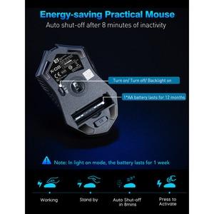 Image 5 - Victsing PC066 ワイヤレスマウス 2.4ghzノイズレスゲーミングマウス 7 ボタン 5 調整可能なdpi 2400 コンピュータマウスノートpc用ゲーマー