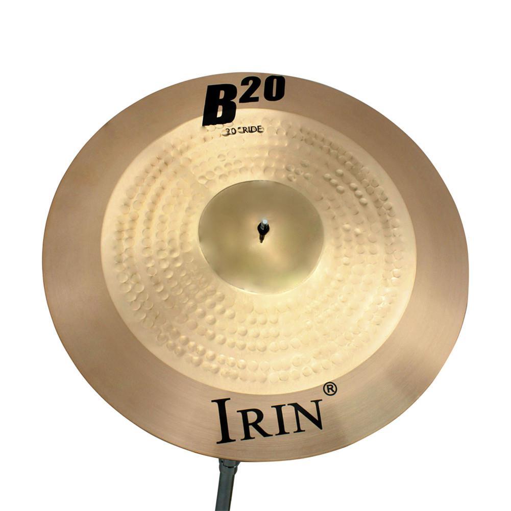 Plats Crash Accessoire pour instrument de musique pour cymbales en laiton r/ésistant 18 pouces IRIN pour batterie