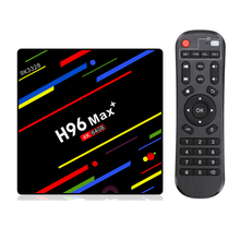 цена Android 9.0 TV Box H96 MAX Plus 4G/64G RK3328 Smart Media Player Quad Core 2.4G/5G Wifi 4K USB 3.0 4K TV BOX H96Max+ Set TopBox