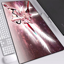 Gaming mouse-pad pink anime angel girl desk mat with natural rubber anime mouse mats for anime fans