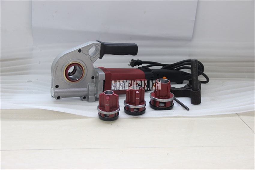 GMTE-02 ручной Электрический трубонарезной станок для обработки резьбы станок для нарезания резьбы труб 110 В/220 В 1400 Вт 24 об/мин