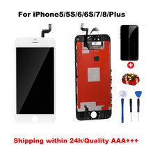 Klasa AAA + + + LCD dla iPhone 6 6S 6Plus 6splus z doskonałym ekranem dotykowym Digitizer montaż dla iPhone 7 8 wyświetlacz + narzędzia tanie tanio GELBAU Rohs CN (pochodzenie) Pojemnościowy ekran 1920x1080 3 For iPhone 4s 5 5c 5s SE 6 6S 7 8 LCD i ekran dotykowy Digitizer