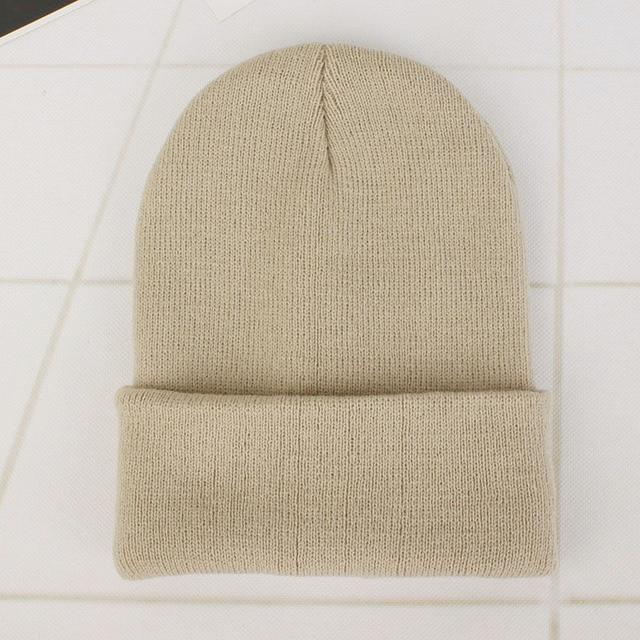 Solid Knitted Hats for Women Winter Soft Warm Knitted Cap Men Women Skullcap Hats Gorro Ski Caps Fashion Beanies for Women 2021 5