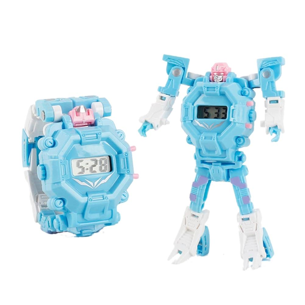 Cartoon Transformation Wristwatch Toy Creative Electronic Robot Watch For Boy Children Deform Robot Sport Watch Toy Random Color