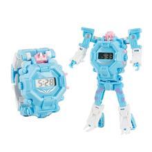 Cartoon Transformation Wristwatch Toy Creative Electronic Robot Watch For Boy Children Deform Sport Xmas Gift