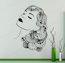 Beauty Salon Wall Sticker Spa wall decal woman removable art mural JH58