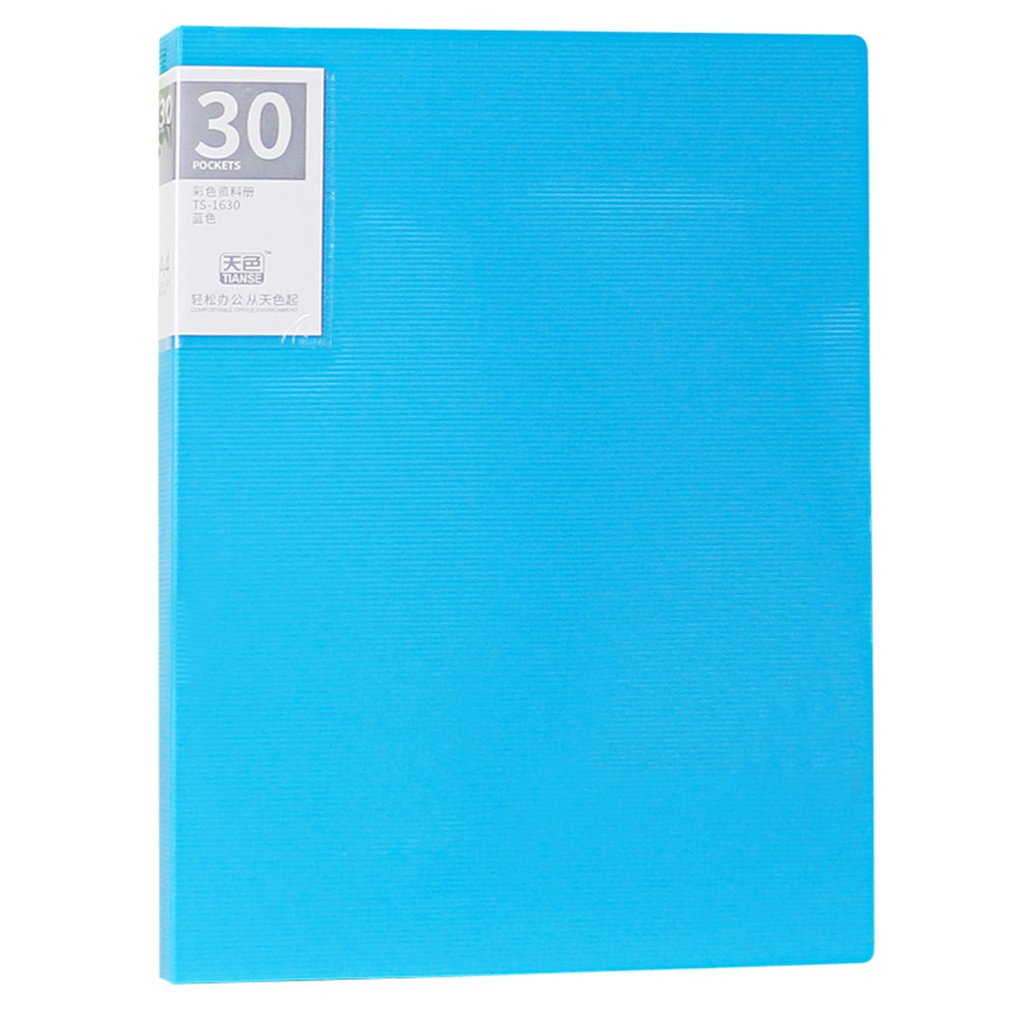 TIANSE 30 Pages Multilayer A4 File Folder Insert Loose Leaf Book Colorful Student Music Book Folder Data Book