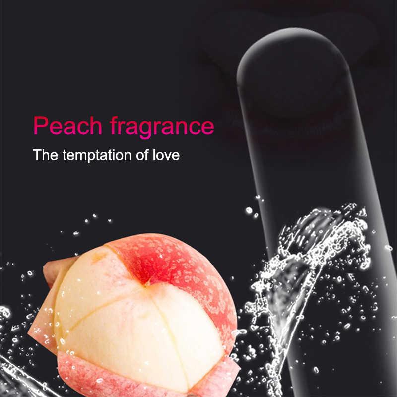 Senang Hati Lebih 10Pcs/Kotak Peach Rasa Oral Seks Kondom Sepong Lateks Alam Kondom untuk Orang Dewasa Mainan Seks untuk Pasangan Penis lengan