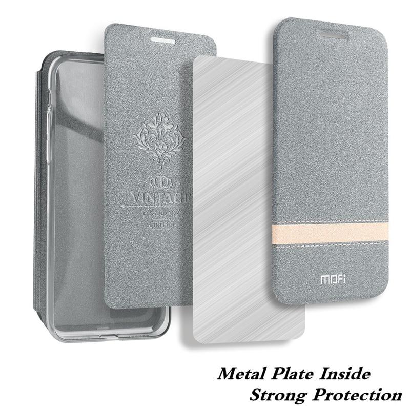 För Oneplus 6T Case Cover ett plus 6T flip PU läder silikon - Reservdelar och tillbehör för mobiltelefoner - Foto 2