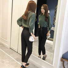 New Womens Fashionable Temperament Two-piece Suit in the Spring and Autumn  of 2019