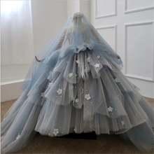 Бальное платье с цветами для девочек кружевные платья бисером