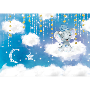 Image 4 - Funnytree sky moon Cloud fairy tale star newborn baby shower birthday background kid photography backdrops photophone Home Decor