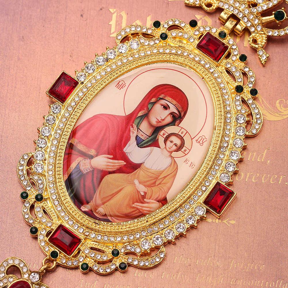 28 Phong Cách Chính Thống Giáo Elip Vây Ngực Túi Đeo Chéo Thiết Kế Tôn Giáo Biểu Tượng Byzantine Thánh Giá Mặt Dây Chuyền Đẹp, Mặt Dây Chuyền Nam Giám Mục Linh Mục Giám Mục