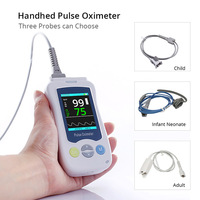 CN Herb Handhed pulse oximeter Neonatal child adult blood oxygen monitor Blood oxygen saturation monitor free shipping
