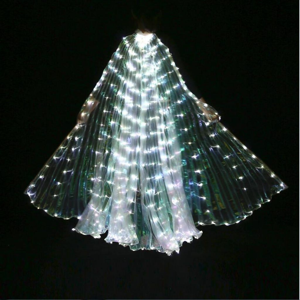 крылья Belly Dancing Dance Costume Light Up Wing Stage Show Props Girl Egypt LED Isis Wings Kids Dancer New Year Gift