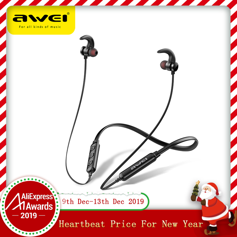 AWEI T11 Wireless Headphones T11S Bluetooth Earphone Headset For Phones Neckband Sport 3D Bass Headphone With Mic fone de ouvido-in Bluetooth Earphones & Headphones from Consumer Electronics on AliExpress