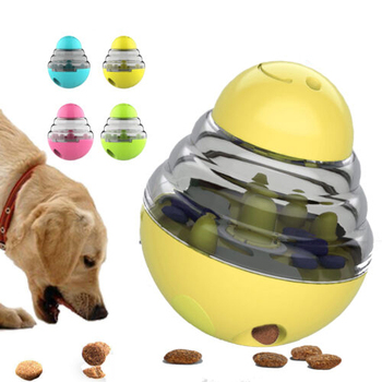 Interactive Dog Cat Food Treat Ball Toy Pet Funny Shaking Leakage Food Container Puppy Slow Food Bowl Feeder Pet Tumbler Toys new dog snack catapult launcher dog cat treat launcher snack food feeder catapult pet interactive training toys