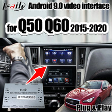 Android 9.0 3G Ram Multimedia Video Interface Ondersteuning Draadloze Carpaly/Android Auto Voor Infiniti 2015.5-20 Q50 q60