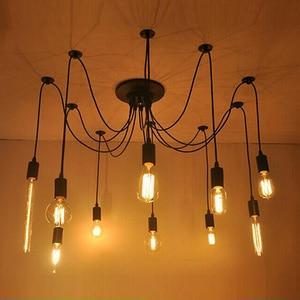Image 3 - Plafonnier Led suspendu en forme daraignée, design nordique Vintage, plusieurs formes rétro réglables bricolage design classique, luminaire dintérieur