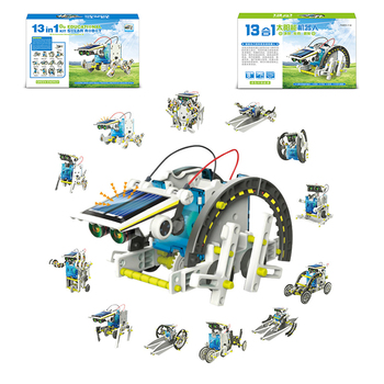 New DIY 13 In 1 Solar Power Robot Kit DIY Toy Solar Powered Toy Transformation Robot Kit Educational Gift Toys for Children Boy henry van dyke the poetry of tennyson