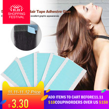 5 Sheets 60pcs Hair Tape Adhesive Glue 4cm*0.8cm Double Side Tape Waterproof For Lace Wig Hair Extension Tool(China)