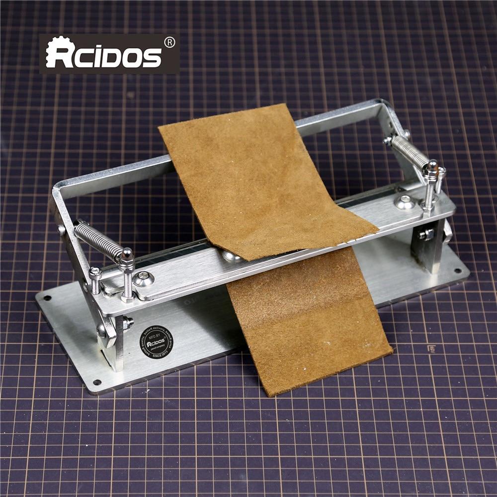 Скребок для кожи pro 8,5 дюйма ручной кожаный skiver, инструмент для очистки кожи RCIDOS, сплиттер для кожи плюс, рабочая ширина 200 мм