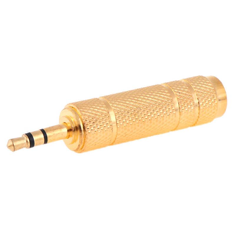 6.5 Mm Socket Female Ke 3.5 Mm MALE Plug Stereo Audio Adapter Jack Converter Mikrofon Baru