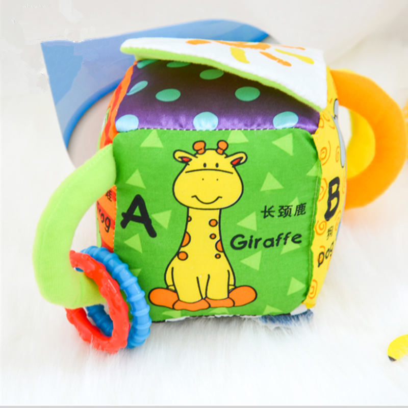 Infant Baby Cute Plush Animal Teethers Rattles Bell Ring Paper Appease Stuffed Cartoon Sensory Hand Grasp Education