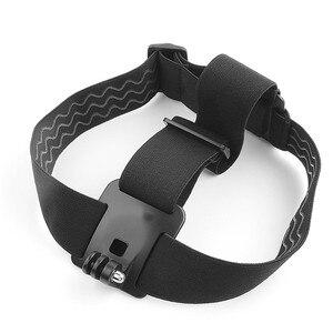 Image 2 - Ceinture de fixation de sangle de tête de harnais réglable élastique pour GoPro HD Hero 1/2/3/4/5/6/7/8 SJCAM caméra daction noire