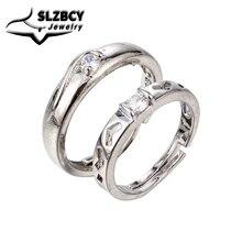 Hochzeit Verlobung Ringe für Frauen Männer Luxus Silber Farbe Reif Liebhaber Paare Ring Schmuck Jahrestag Geschenk Großhandel