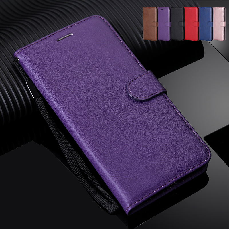 Solid Color Wallet Flip Case For Motorola G2 G4 G5 G5S G6 G7 C Plus Z3 Play Z Force X Style E4 E5 Moto One Power P30 Note Cover