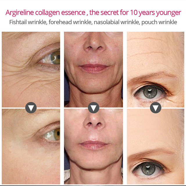 Argireline Collagen Peptides Face Serum Cream Anti-Aging Wrinkle Lift Firming Whitening Moisturizing Skin Care VIBRANT GLAMOUR 3
