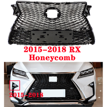 Middle grille for Lexus RX series RX270 RX300 RX350 RX450 ABS plastic front grille modified to LS style Honeycomb style cha for lexus 2009 up rx270 rx300 rx350 rx450h led tail lamp rear light