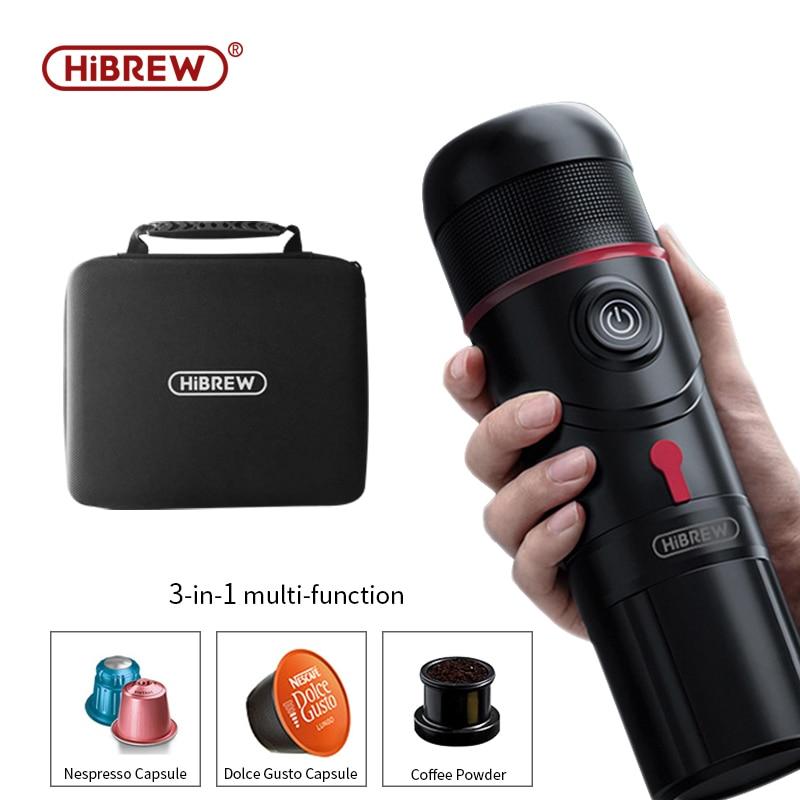 HiBREW Portable Coffee Machine for Car DC12V Expresso Maker Nespresso Dolcegusto Capsule  espresso  machine Coffee Powder H4 1