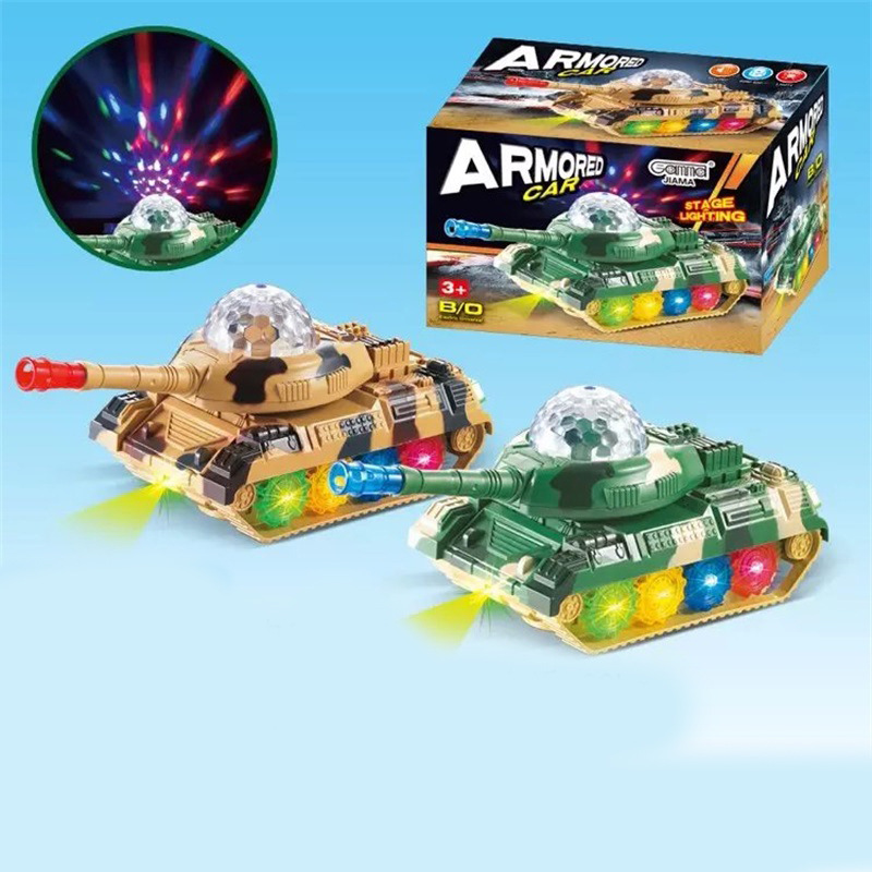 CHILDREN'S Plastic Toys Model Electric Tank Firefighting Military Engineering Toy Universal Flash Car Model