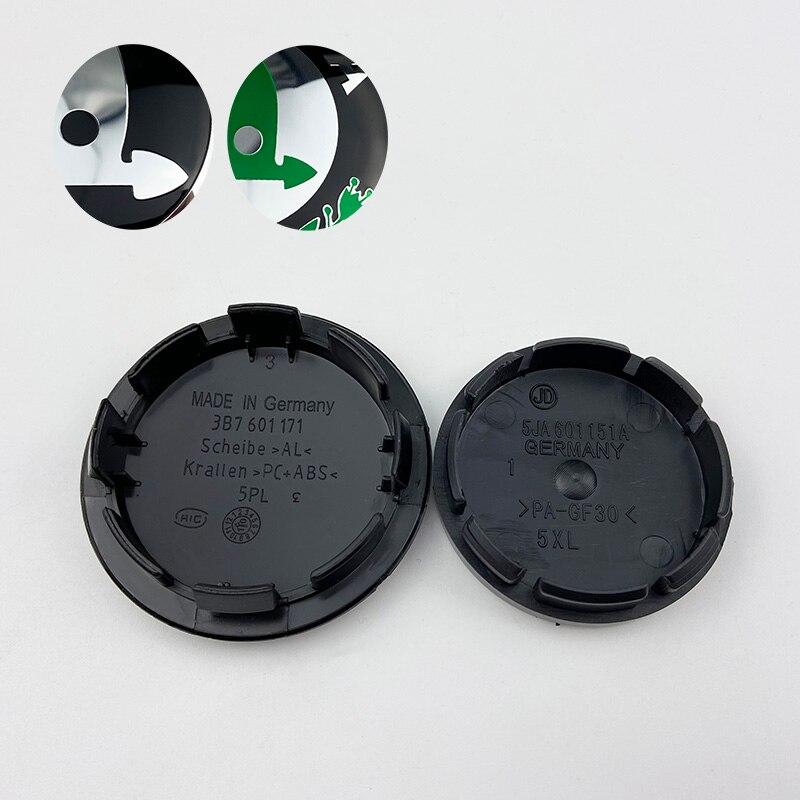 Колпачки на ступицу колеса автомобиля 4 шт./лот, 56 мм, 65 мм, черно зеленые, центральные колпачки для Skoda Octavia Fabia Superb Rapid Yeti 1J0601171 3B7601171|Наклейки на автомобиль|   | АлиЭкспресс