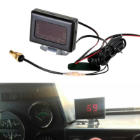 Universal carro digital medidor de temperatura da água kit + temp sensor plug 16mm 12/24 v para o motor do carro