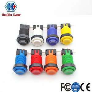 12x Happ Type Standard Push Buttons With Micro Switch For Arcade Video Games Mame Jamma