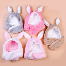 Baby Winter Adjustable Kid Girl Thick Scarf Earflaps Beanie Protect Face Neck Caps Hats L0925