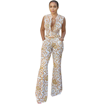 Plus Size African Jumpsuit for Women African Clothes Dashiki African Jumpsuit Rompers Womens Jumpsuit Ankara Print Jumpsuit фото